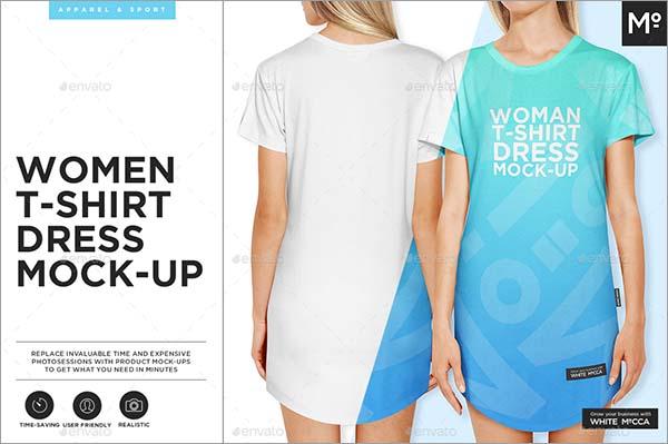 Women Dress Shirt Mock-up