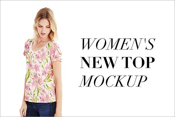 Women New Top Mockup