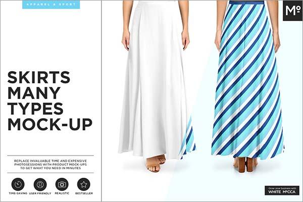 Women Skirts Mock-ups Set