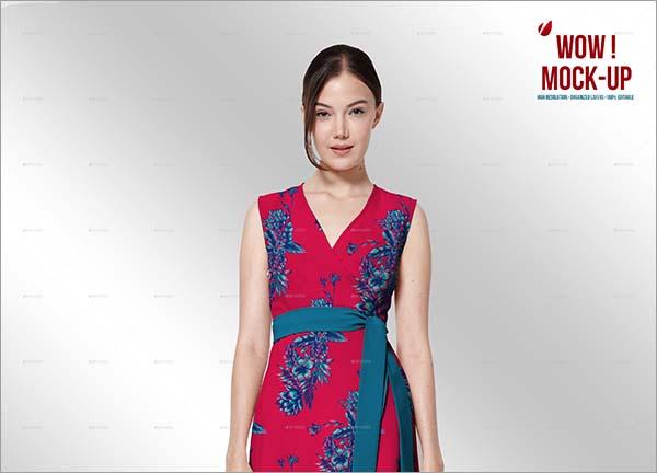 Women Wrap Dress Mock-up