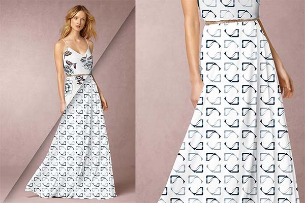 Women's Dress PSD Mockup Design