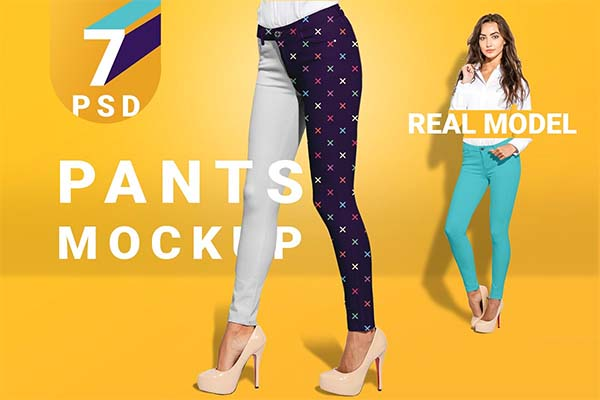 Women's Pants Mockup Set