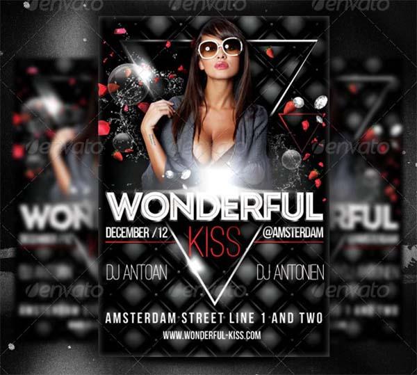 Wonderful Kiss Party Flyer