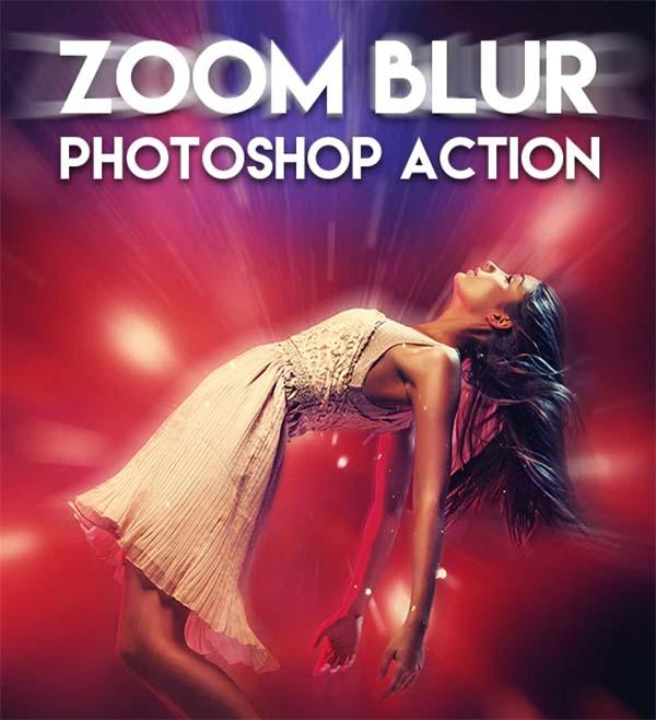 Zoom Blur Photoshop Actions