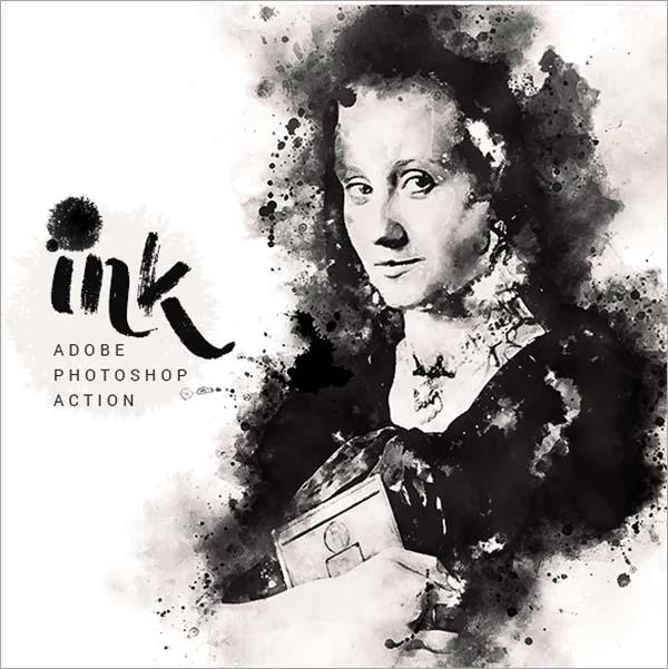 ink Art Photoshop Actions Design