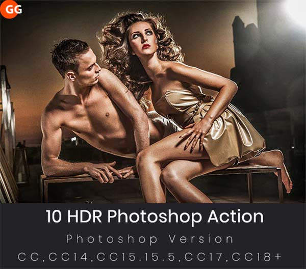 10 HDR Photoshop Action