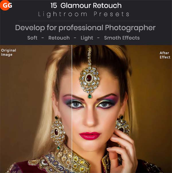 15 Glamour Retouch Lightroom Presets