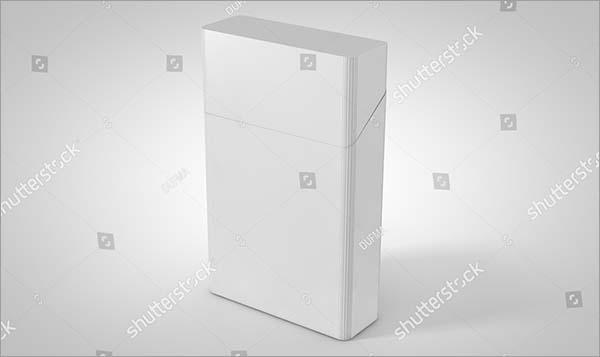 3D Illustration Gray Cigarette Pack Mockup