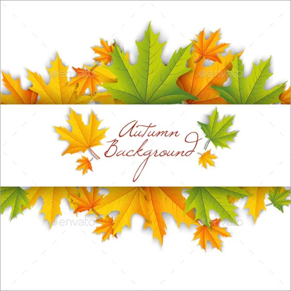 Abstract Autumn Floral Poster Template