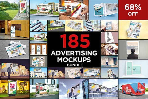 Advertising News Mockups Bundle