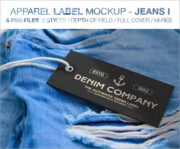 Apparel Label Mockups Jeans