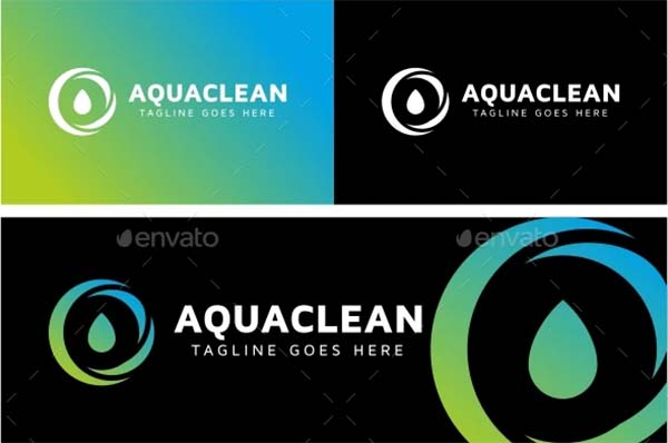 Aqua Clean Logo Design