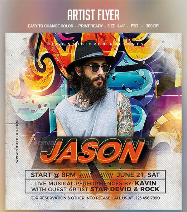 Artist Colors Flyer Template