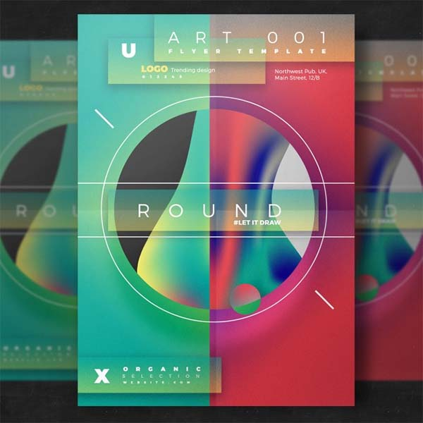 Artistic Flyer Template Free PSD