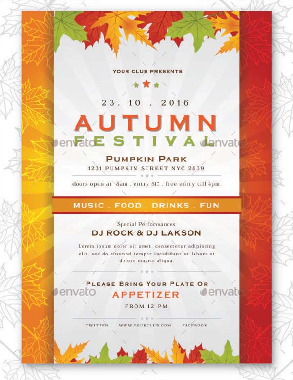 Autumn Festival Flyer and Poster Template