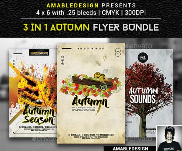 Autumn Flyer and Poster Template Design