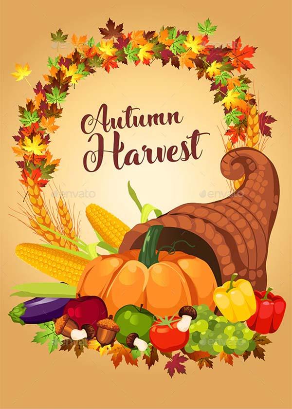 Autumn Harvest Poster Template