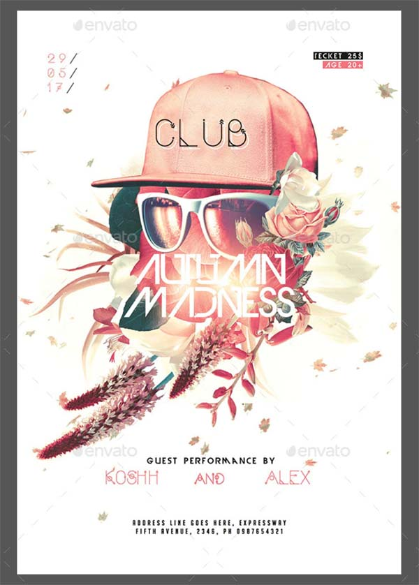 Autumn Madness Poster and Flyer Template