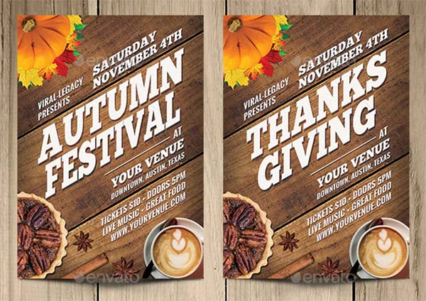 Autumn Party Poster and Flyer Template