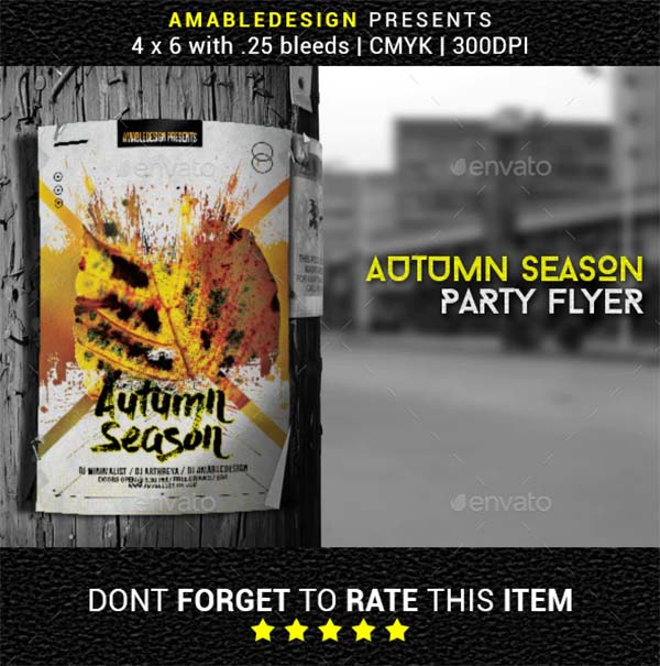 Autumn Season Flyer and Poster Template