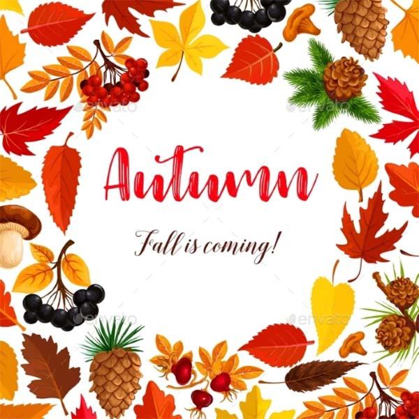 Autumn Vector Poster Template