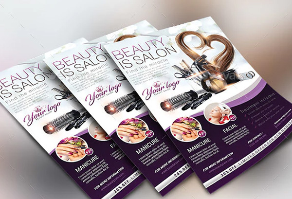 Beauty Salon Flyer Design Template
