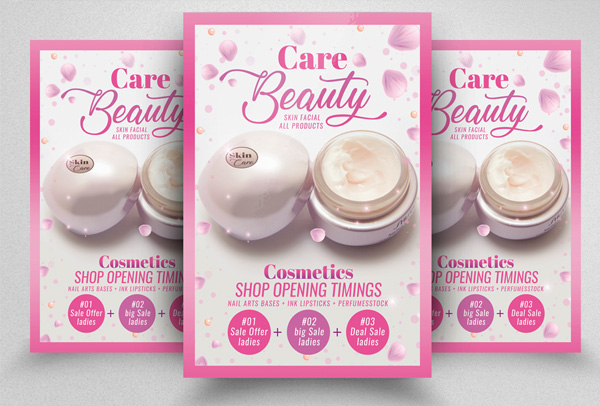 Beauty Skin Care Product Flyer Template