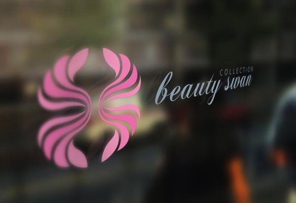 Beauty Swan Printable Logo Template