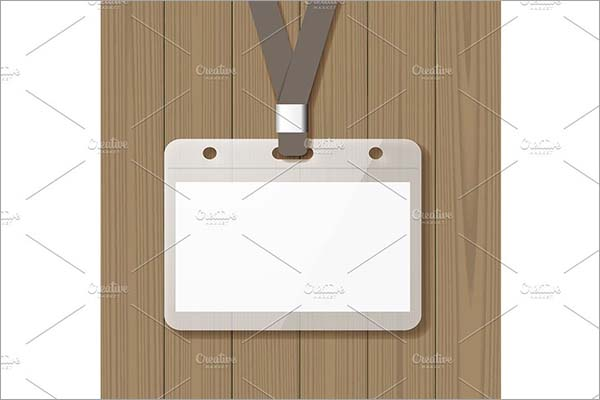 Blank Name Badge Mockup