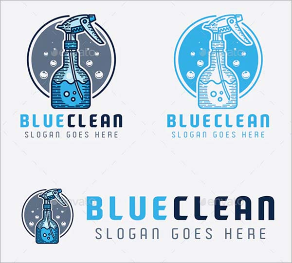 Blue Clean Logo Design