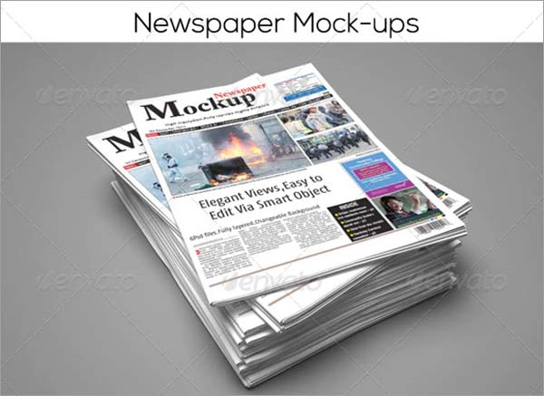Branding Newspaper Mock-Up