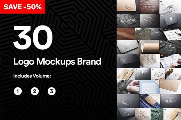 Bundle 30 Logo Mockups Brand