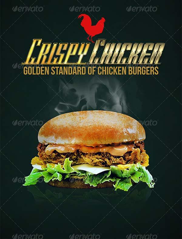 Burgers Vintage Posters Template