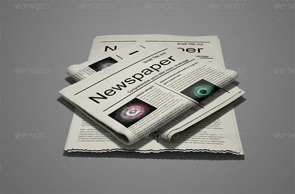 Business Newspaper Mock-up