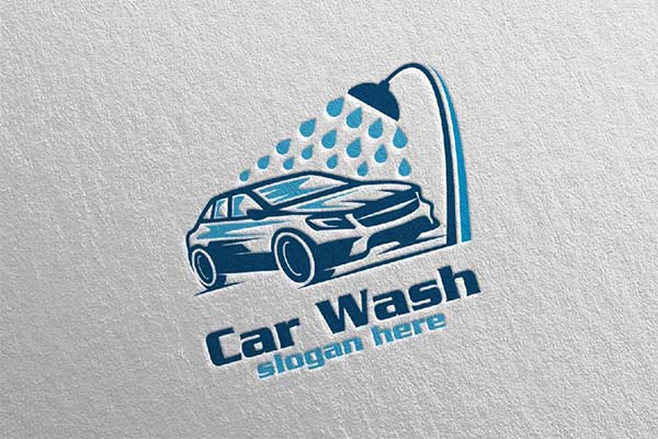 Car Wash Cleaning Logo Design