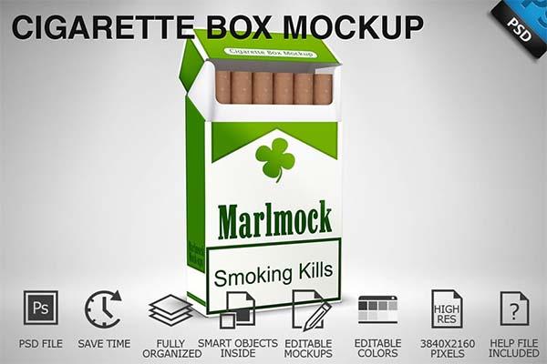 Cigarette Box PSD Mockup