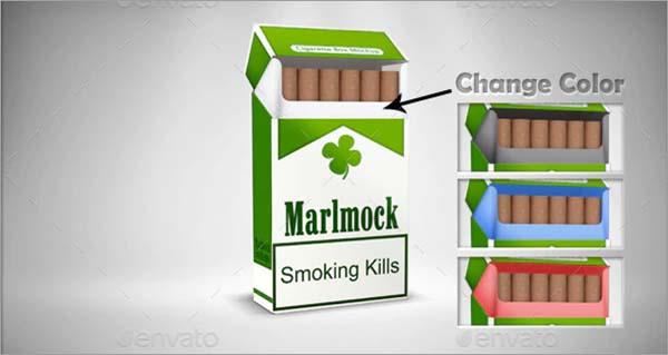 Cigarette Mockup Package