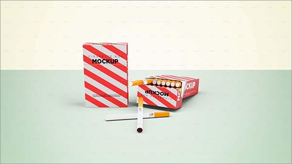 Cigarette PSD Box Mockup