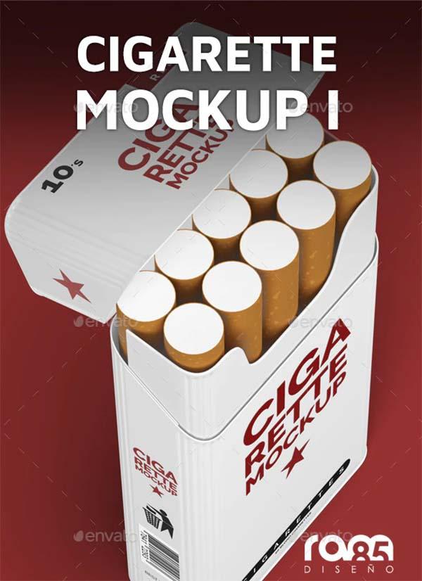 Cigarette PSD Mockup