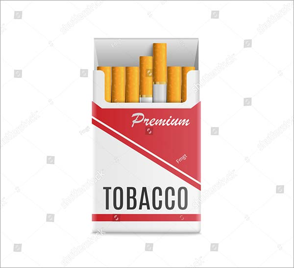 Cigarettes Pack Realistic Style for Mockup