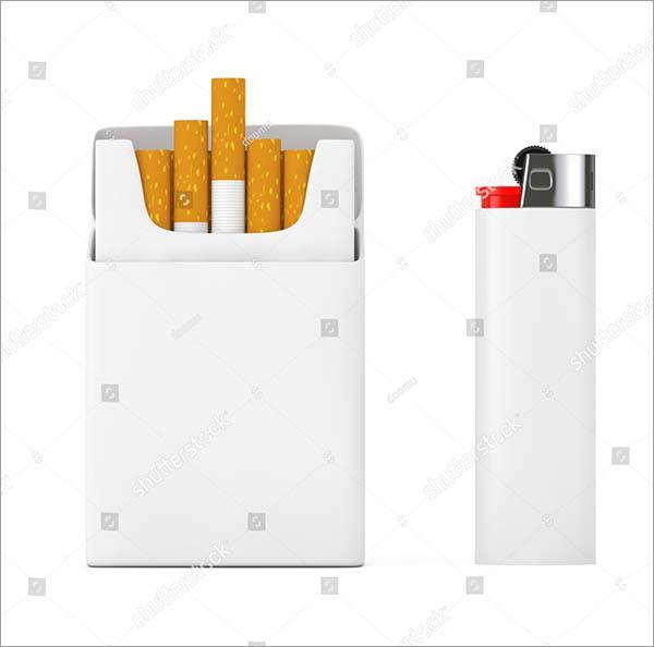 Cigarettes White Pocket Lighter Mockup