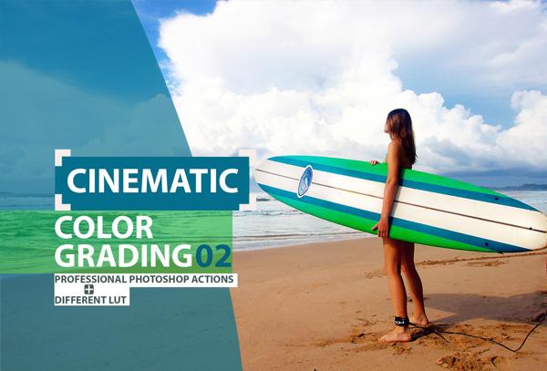 Cinematic Color Grading Premium Photoshop Action