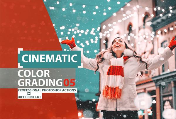 Cinematic Color Grading Photoshop Action