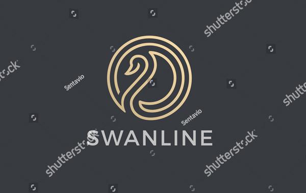 Circle Abstract Swan Logo