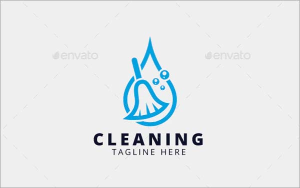 Cleaning PSD Logo Design Template