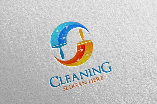Cleaning Service Vector Design Logo