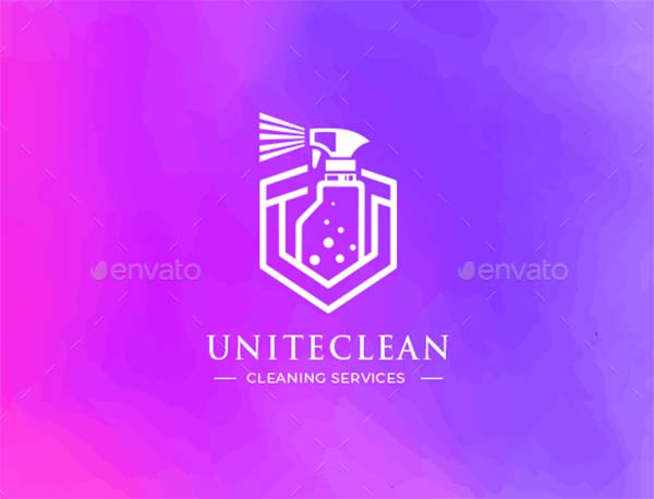 Cleaning Vector Logo Template