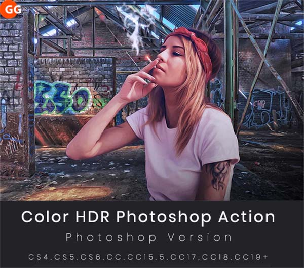 Color HDR Photoshop Action