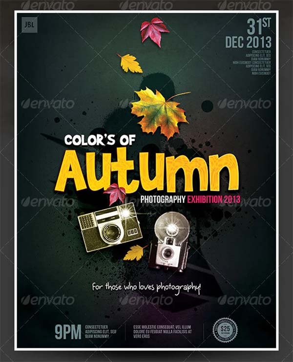 Colors of Autumn Photography Poster Template