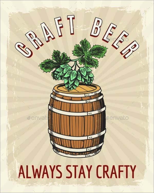 Craft Beer Vintage Poster Template